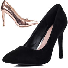 Womens Pointed Toe Stiletto High Heel Court Pumps Shoes Sz 5-10