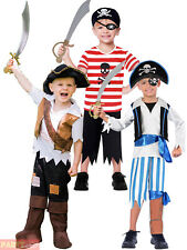 Childs Toddlers Pirate Costume Boys Captain Hook Buccaneer Fancy Dress Outfit
