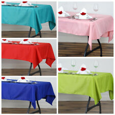 "54 x 54"" SQUARE POLYESTER Tablecloth Wedding Table Linens for Catering SALE"