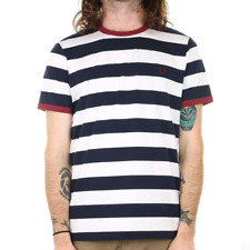 X Fred Perry Striped Ringer Tee - Carbon Blue