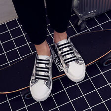 Mens Fashion Sneakers Canvas Breathable Lace up Flat Sport Leisure Board Shoes H