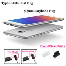 Silicone Type-C Data Plug+3.5mm Jack Anti-Dust Port Protector For Cell Phone Lot