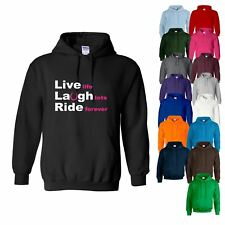 HOODY Live Laugh Ride Horse Riding Equestrian Jumping Womens Sweatshirt Hoodie