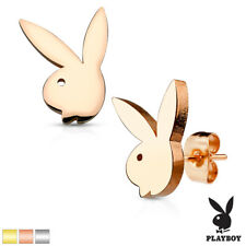 Pair Playboy Bunny 316L Surgical Stainless Steel Stud Earrings