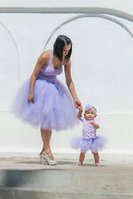 Fun and Fluffy Lavender Matching Mother Daughter Matching Tutu Set