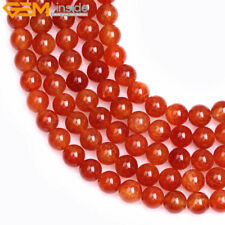 Round Crackle Red Agate Stone DIY Loose Beads For Jewelry  Making Strand 15""
