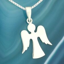 Guardian Angel Pendant Sterling Silver Charm Necklace Box Chain Jewelry Gift