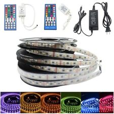 12V/24V 5m 5050 RGBW 4-in-1 Chip RGBW RGB+White LED Strip Lights+IR Remote/Power