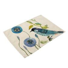 Bird Priting Place Mats Creative Linen Table Mats Kitchen Dining Decoration