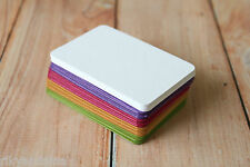 500pc bulk assorted TINTED eco friendly recycled DIY blank business cards ATC