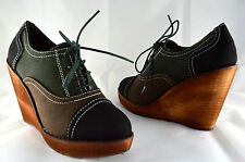 Wedge Heel Women's Shoes Ankle Boots Sneaker Size Uk 3 - 8 Black A. 0103