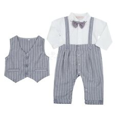 Newborn Kids Baby Boys Infant Outfits Bodysuit Romper Tuxedo Gentleman Clothes