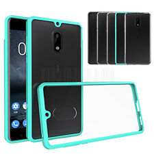 Slim Hybrid Clear TPU Case Shockproof Silicone Bumper Phone Cover For Nokia 6