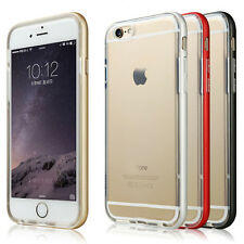 For Apple iPhone 6 6s/6s Plus Luxury Aluminum Metal Bumper Clear Case Cover Skin