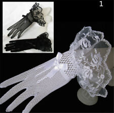 Lace Fishnet Wedding Bridal Gloves Lace Fingered Glove For Party Wedding CY7