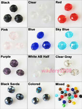 New Charms Faceted Round Flat Glass Crystal Rondelle Spacer Beads 4mm 6mm 8mm