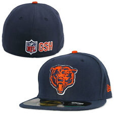 CHICAGO BEARS NFL AUTHENTIC ON FIELD PLAYERS NEW ERA 59FIFTY FITTED HAT/CAP NWT