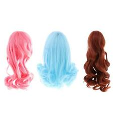 Fashion Doll Long Curly Wavy Hair Wig Hairpiece for 1/6 12'' Blythe Doll Cosplay