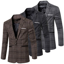 Stylish New Fashion Mens Slim Fit Casual One Button Suit Coat Jacket Blazers