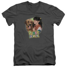 Punky Brewster/Punky & Brandon   S/S Adult V Neck   Charcoal   Nbc391