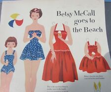 Betsy McCall Original 1951 Goes To The Beach Paper Doll Scarce HTF Nice