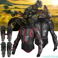 Motorcycle Full Body Armor Jacket Spine Chest Protective Gear Motocross Race x1