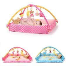 Baby Musical Activity Play Mat Infant Baby Tummy Time Pad with Sides and Toys