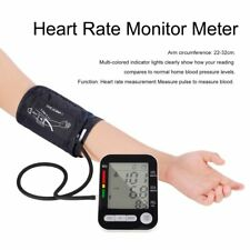LCD Digital Upper Arm Blood Pressure Monitor USB Rechargeable Sphygmomanometer F