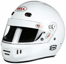 Bell - Sport SA2015 Auto Racing Helmet -  Snell Rated - White - Medium & X-Large