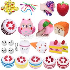 Squishy Cake Animal Fruit Soft Rising Squeeze Stress Relief Toy Phone Charm Gift