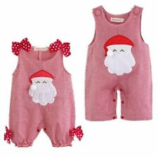 Christmas Santa Boys Girls Infant Baby Romper Clothes Hat Costume Outfits Xmas