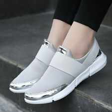 Women's Sneakers Ladies Casual Lace Up Striped Sport Running Trainers Shoes