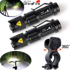 15000LM  Zoomable Cree T6 LED Flashlight Torch Focus+360° Mount Clip Bike Holder