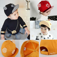 NEW Baby Kids Children Baseball Cap Hat With CUTE Embroidery Palm Adjustable
