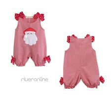 Infant Baby Girls Summer Christmas Romper Costume Santa  Outfits Dress Suits