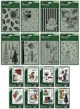 NEW Sheena Christmas Embossing Folders and/or Rubber Stamps Crafters Companion