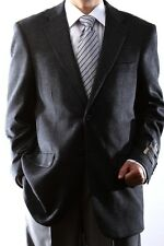 Mens Two Button Lamb Wool Cashmere Charcoal Sport Coat, J40912C-40932-CHA