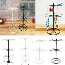 2/3 Tier Rotating Earring Bracelet Necklace Jewelry Display Stand Holder Rack