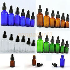 5ML--100ML Glass Reagent Eye Dropper Drop Aromatherapy Liquid Bottle# 4 Colors