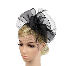 Women Girls Organza Mesh Net Fascinator Headband Headpiece Costume