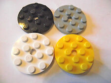 LEGO 4x4 round plates Packs of 4 Part 60474 choose your colour!