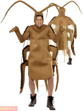 Mens Cockroach Costume Adult Horror Bug Halloween Fancy Dress Costume Outfit