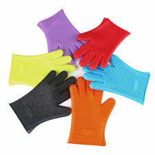 Silicone BBQ Gloves Heat Resistant Grill Kitchen Hands Hot Oven Cooking Mitts