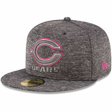 CHICAGO BEARS NFL BREAST CANCER BCA NEW ERA 59FIFTY FITTED GRAY/PINK HAT/CAP NWT