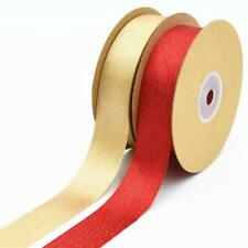 Premium Double Faced Sided Satin Ribbon Reels 15m x 25mm for Wedding Supplies