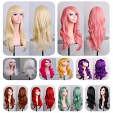 Women Ladies Long Cury Hair Halloween Cosplay Party Full Wig 13 Colors Available