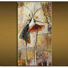 """NO Frame /20*40"""" Pure Hand-painted Vertical Oil Painting Abstract """"DANCE"""""""