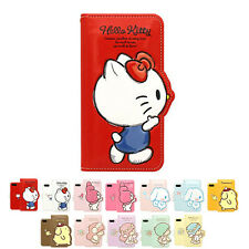 Hello Kitty 3D Silhouette Leather Flip Diary Case For Apple iPhone 7 / 7Plus