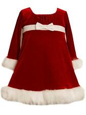 Ashley Ann Infant Girls Red Sparkly Santa Christmas Holiday Party Dress