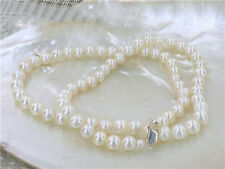 17-24inch 4.5mm aaa grade white akoya pearls necklace 925 Sterling Silver